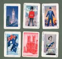 Collectible cards game Crown the Queen 1953